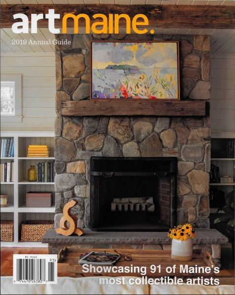 Ferrero's work highlighted in Art Maine magazine: 2019 Annual Guide